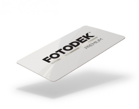 FOTODEK PVC Premium Gloss Blank Cards - Available with Magstripe (Pack of 100) - FIRE
