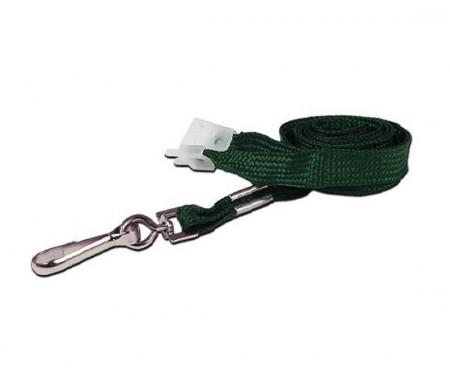IDM Breakaway 80 cm long,10mm wide - Plain Green (100s) Lanyards - Metal clip