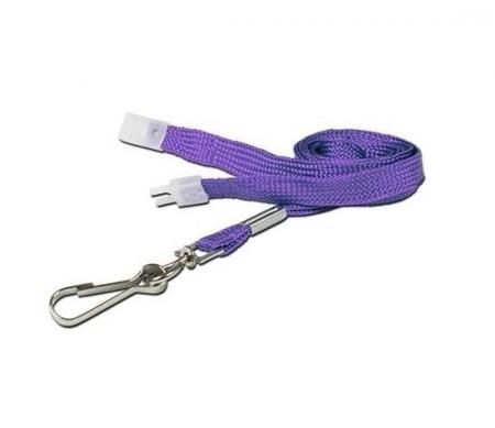 IDM Purple Breakaway Lanyard with Metal Clip - Pack of 100