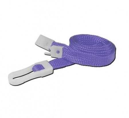 IDM Breakaway 80 cm long, 10mm wide - Plain Purple (100s) Lanyards - Plastic clip