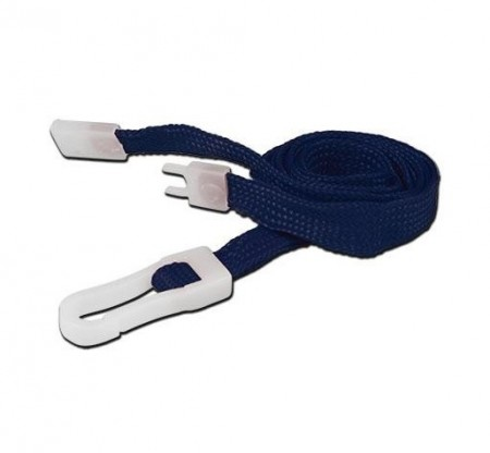 IDM Breakaway 80 cm long, 10mm wide - Plain Navy Blue (100s) Lanyards - Plastic clip