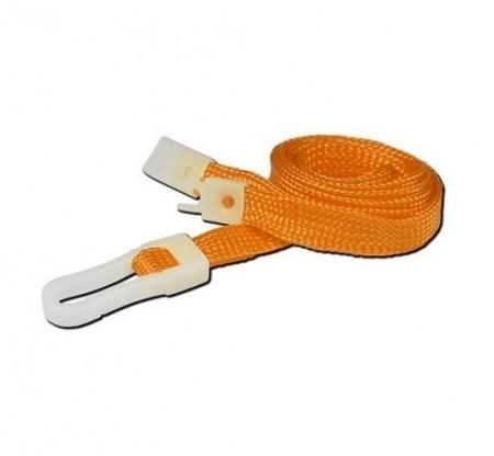IDM Breakaway 80 cm long, 10mm wide - Plain Orange (100s) Lanyards - Plastic clip
