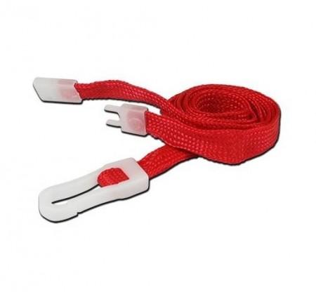 IDM Breakaway 80 cm long, 10mm wide - red (100s) Lanyards - Plastic clip