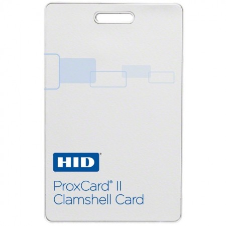 HID 1326LSSMV ProxCard® II Access Clamshell Cards - Pack of 100, Matte Finish