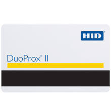 HID 1336LGGMN DuoProx® II Proximity Access Cards with Magstripe  - Pack of 100, Gloss Finish