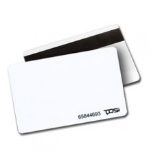 TDSi Plain PVC White Proximity Cards with Hi-Co Magstripe - Pack of 100