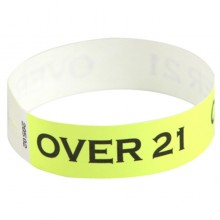 Custom Black Print Tyvek Wristbands