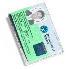 IDM Flexible Landscape ID Card Protector - 86mm x 54mm, Pack of 100