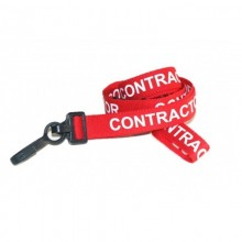 90cm Contractor Breakaway Lanyards with Plastic Clip - Pack of 100