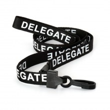 90cm Delegate Breakaway Lanyards with Plastic Clip - Pack of 100