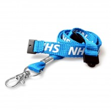 90cm NHS Double Breakaway Lanyards with Metal Clip - Pack of 100
