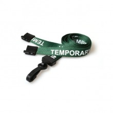90cm Temporary Breakaway Lanyards with Plastic Clip - Pack of 100