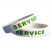Colour Filled Silicone Wristbands (In any colour)