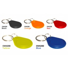 EM4200 125Khz PVC Read-Only Blue Proximity Keyfob – Pack of 100