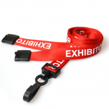 90cm Exhibitor Breakaway Lanyards with Plastic Clip - Pack of 100
