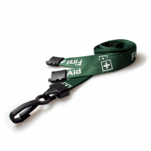 90cm First Aid Breakaway Lanyards with Plastic Clip - Pack of 100