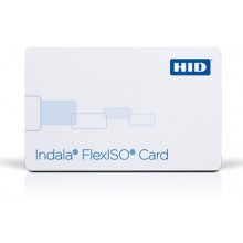 Indala Plain White FlexISO PVC Cards - Pack of 100