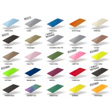 Fotodek Blank PVC Gloss Coloured Cards with White Core - Pack of 100