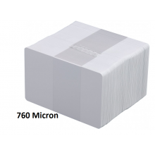 IDM Premium CR80 760 Micron Blank PVC Cards - Pack of 100