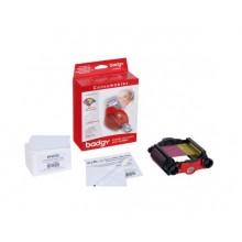 Evolis Badgy VBDG205EU Consumables Kit - Ribbon & 0.76mm (760 micron) Cards