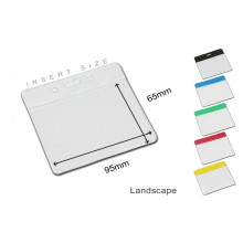 Vision Coloured Flexible Landscape ID Badge Holder - 95mm x 65mm, Pack of 100