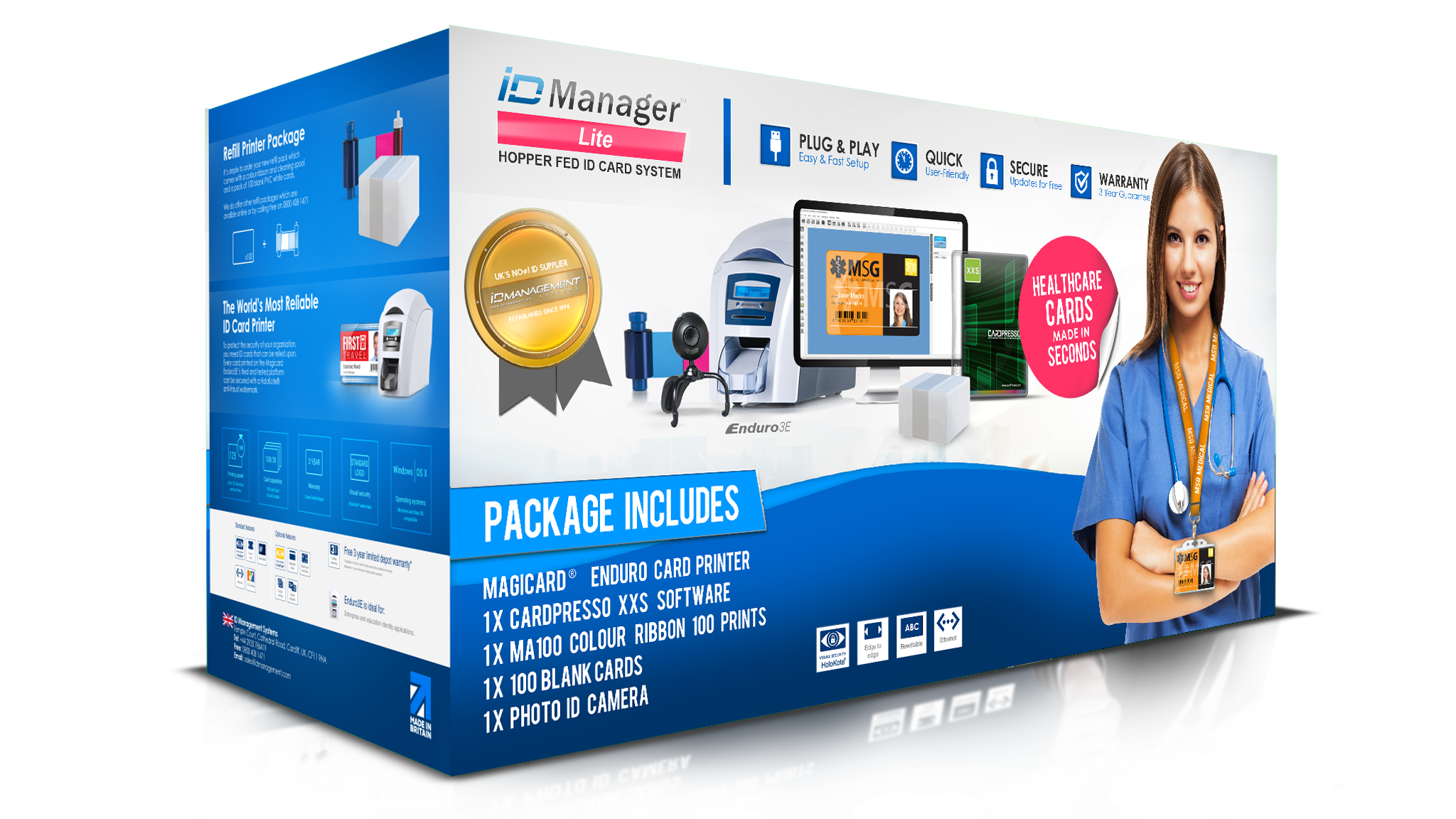 ID Manager Healthcare ID Card System - Magicard Enduro 3E