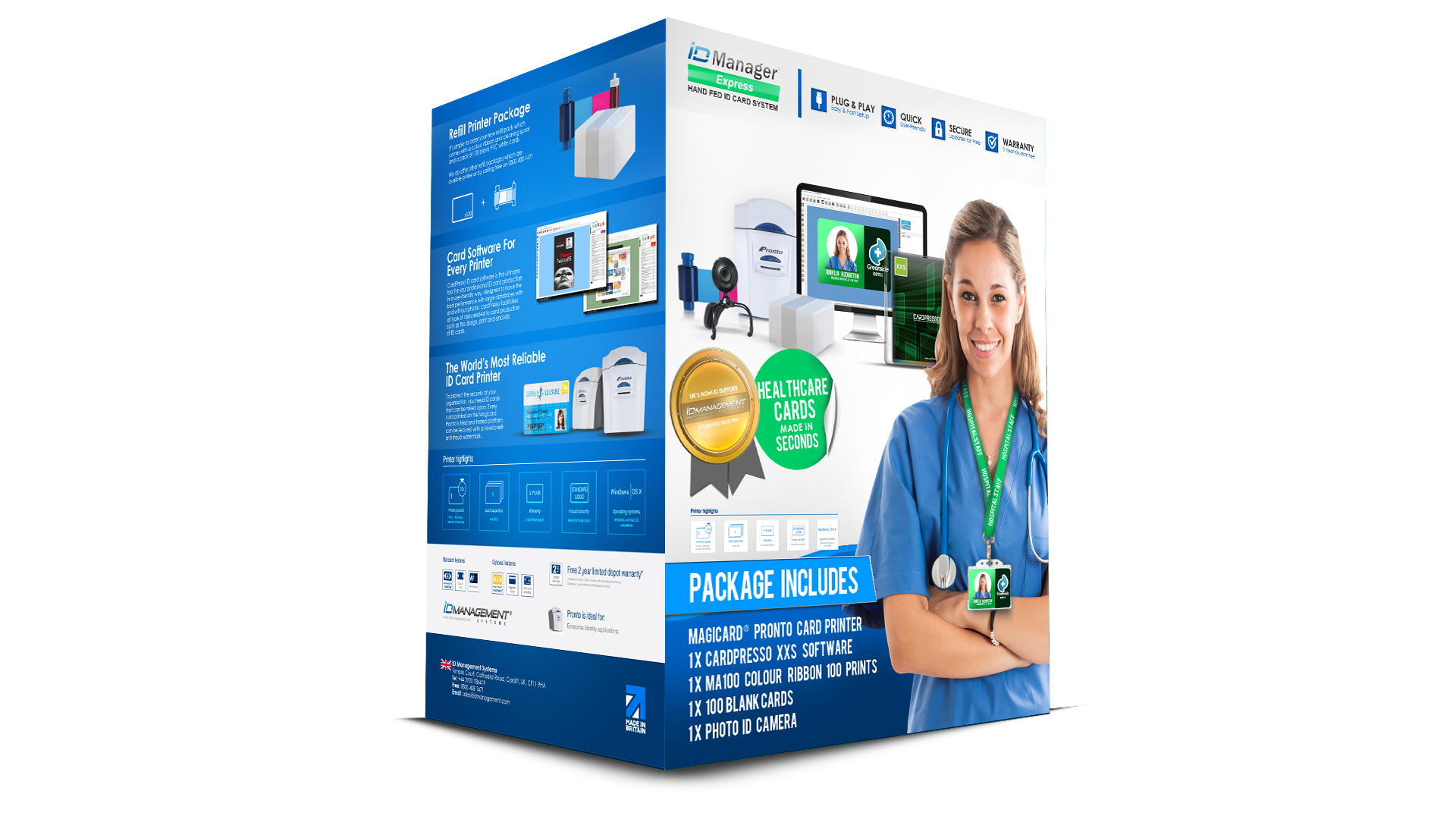 ID Manager Healthcare ID Card System - Magicard Pronto