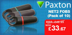 Pack of 10 Paxton Net2 Fobs for just £33.67