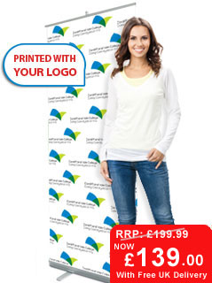Pop-up Banner Customised with your Logo for just £139